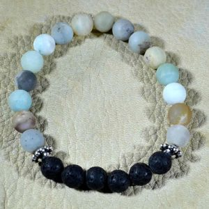 Amazonite Aromatherapy Bracelet Matte by Jack's Gems