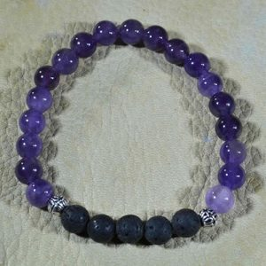 Purple Amethyst Aromatherapy Bracelet by Jack's Gems