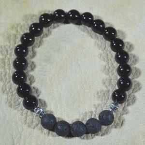 Black Onyx Aromatherapy Bracelet by Jack's Gems