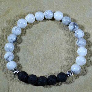 White Howlite Aromatherapy Bracelet by Jack's Gems