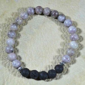 Lilac Stone Aromatherapy Bracelet
