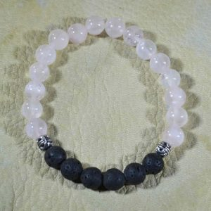Pink Quartz Aromatherapy Bracelet (gloss finish)
