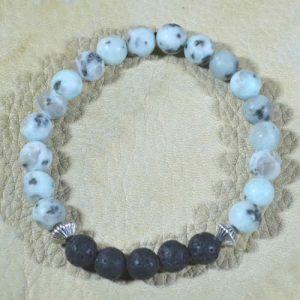 Sesame Jasper Aromatherapy Bracelet (matte)