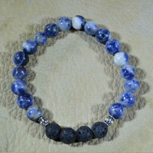Sodalite Aromatherapy Bracelet (gloss)