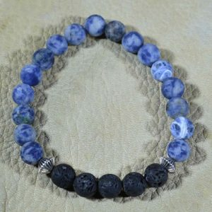 Sodalite Aromatherapy Bracelet (matte)