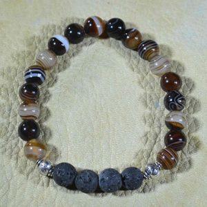 Striped Agate Aromatherapy Bracelet