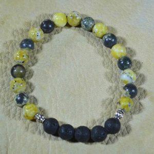 Yellow Turquoise Aromatherapy Bracelet